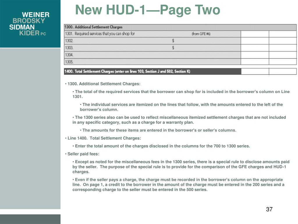 New HUD-1—Page Two
