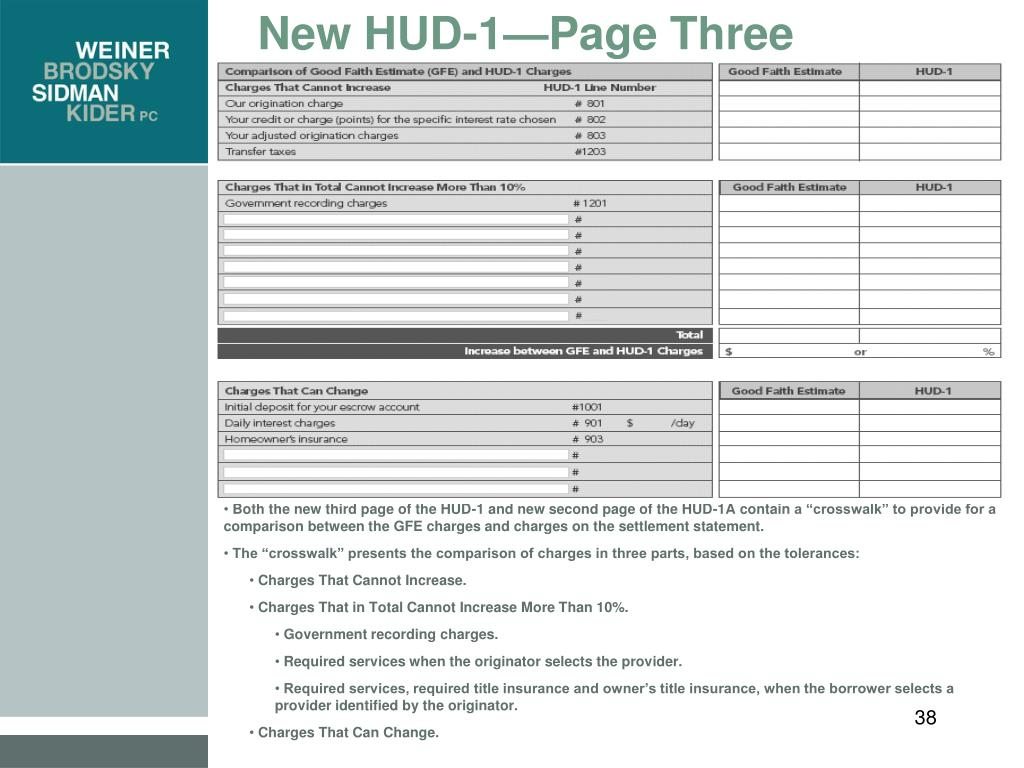 New HUD-1—Page Three