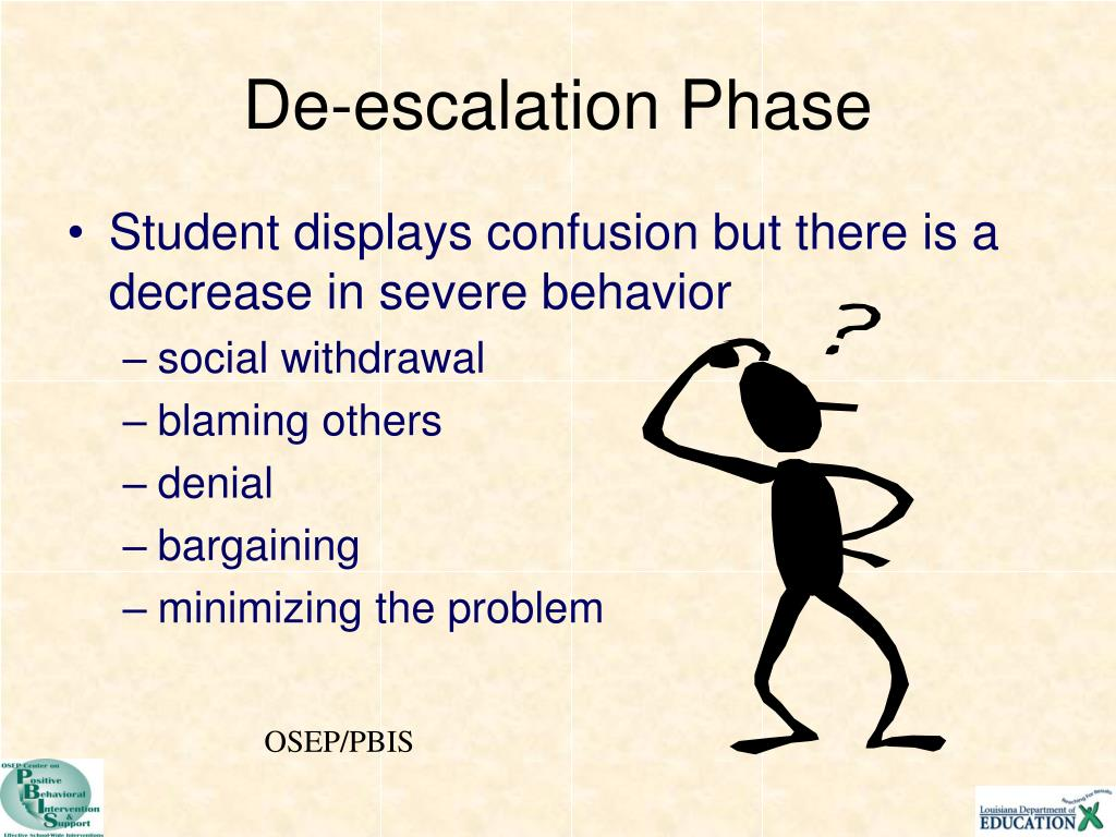 De-escalation Phase