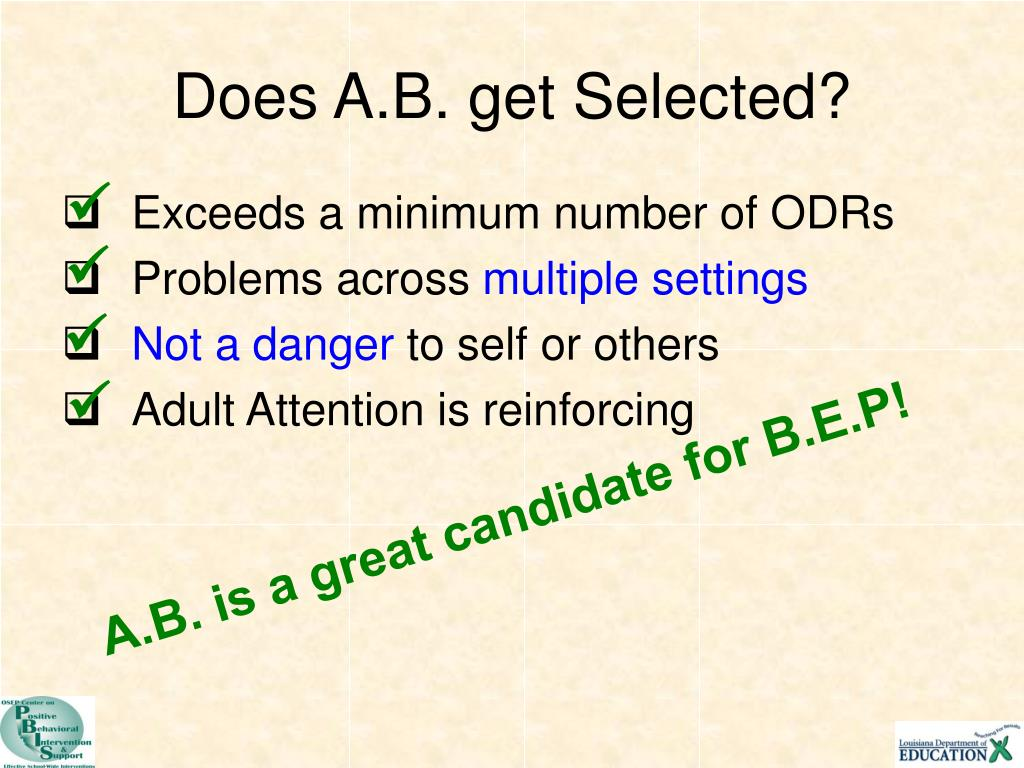 Does A.B. get Selected?