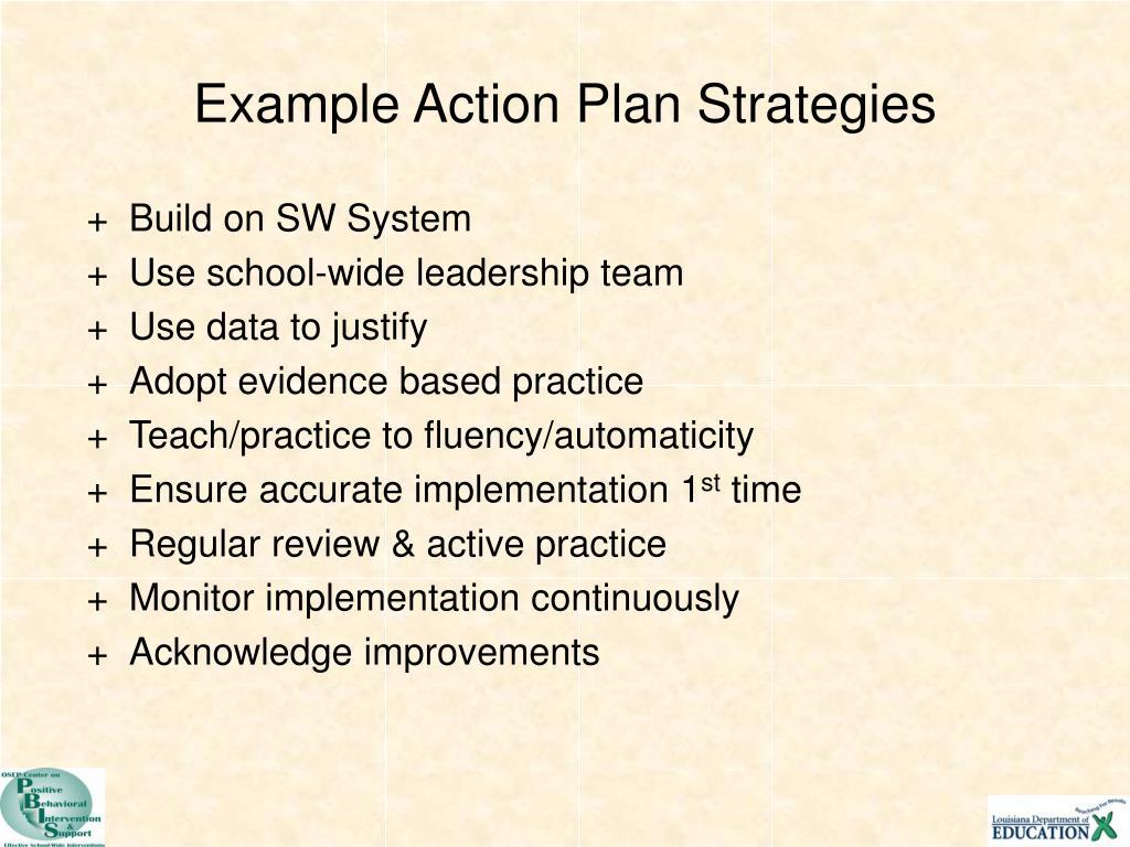 Example Action Plan Strategies