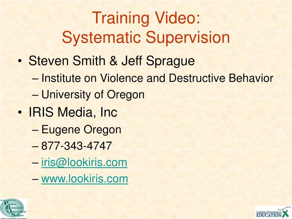 Training Video: