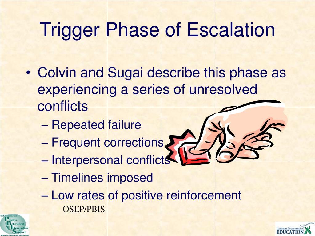 Trigger Phase of Escalation