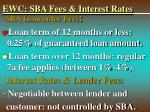 ewc sba fees interest rates