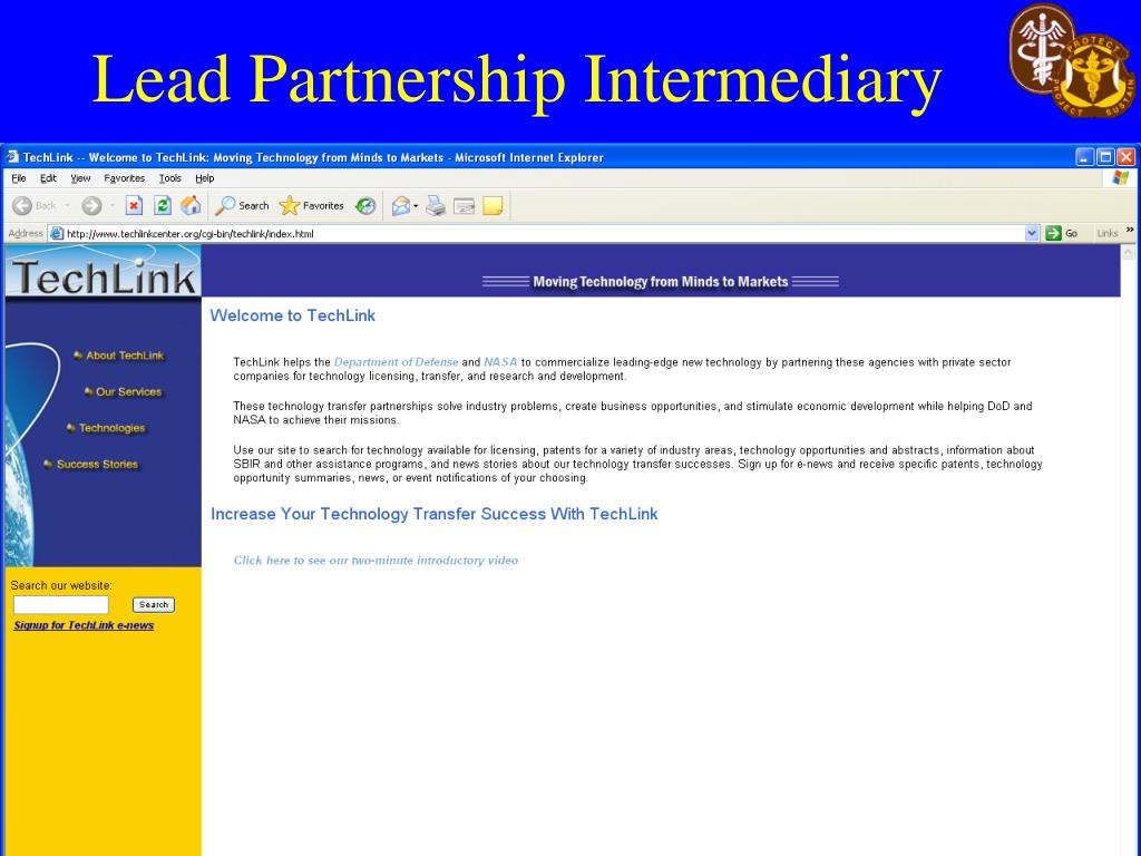 Lead Partnership Intermediary