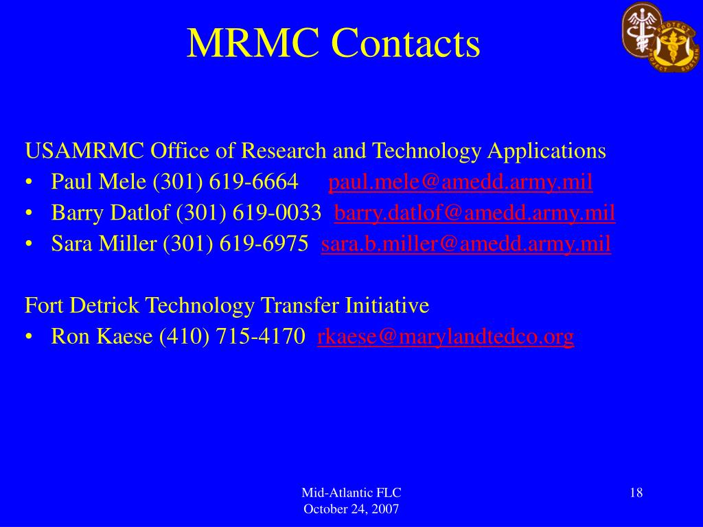 MRMC Contacts
