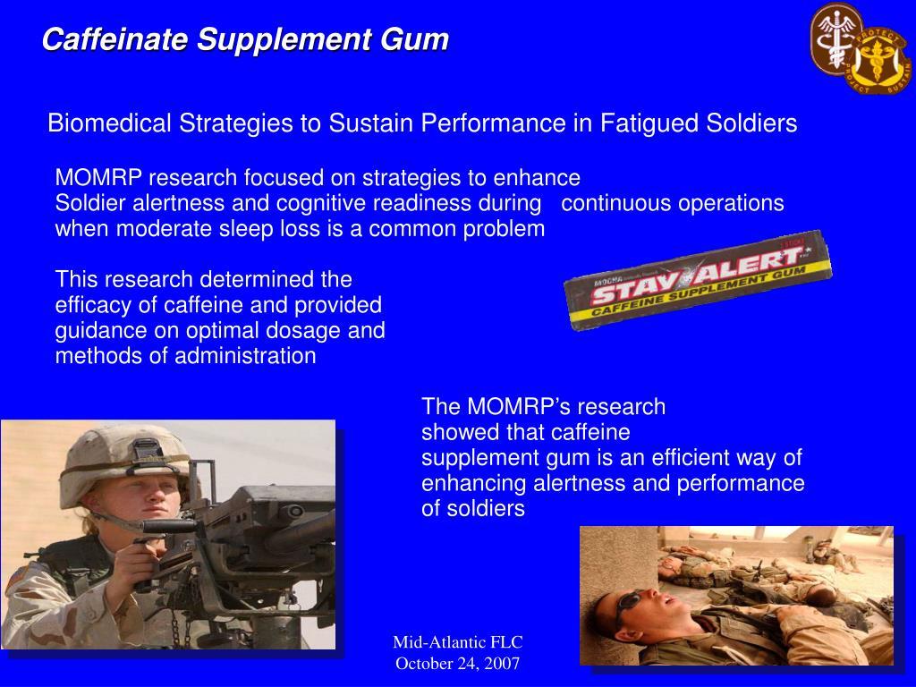 Caffeinate Supplement Gum