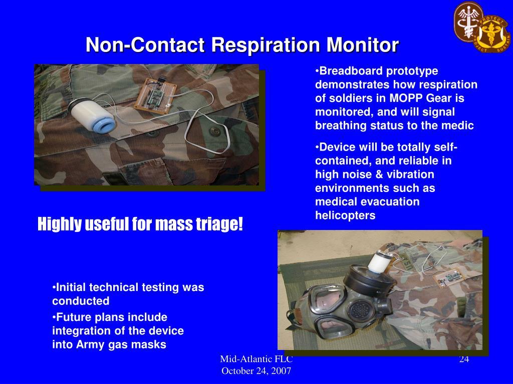 Non-Contact Respiration Monitor