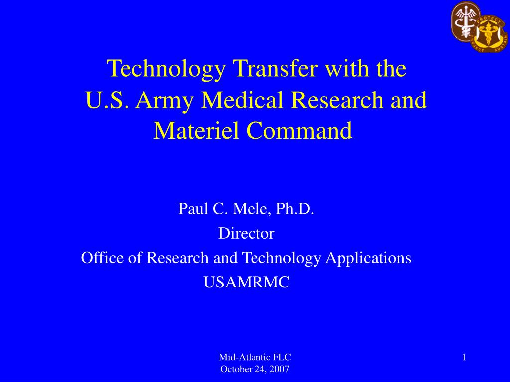 Technology Transfer with the