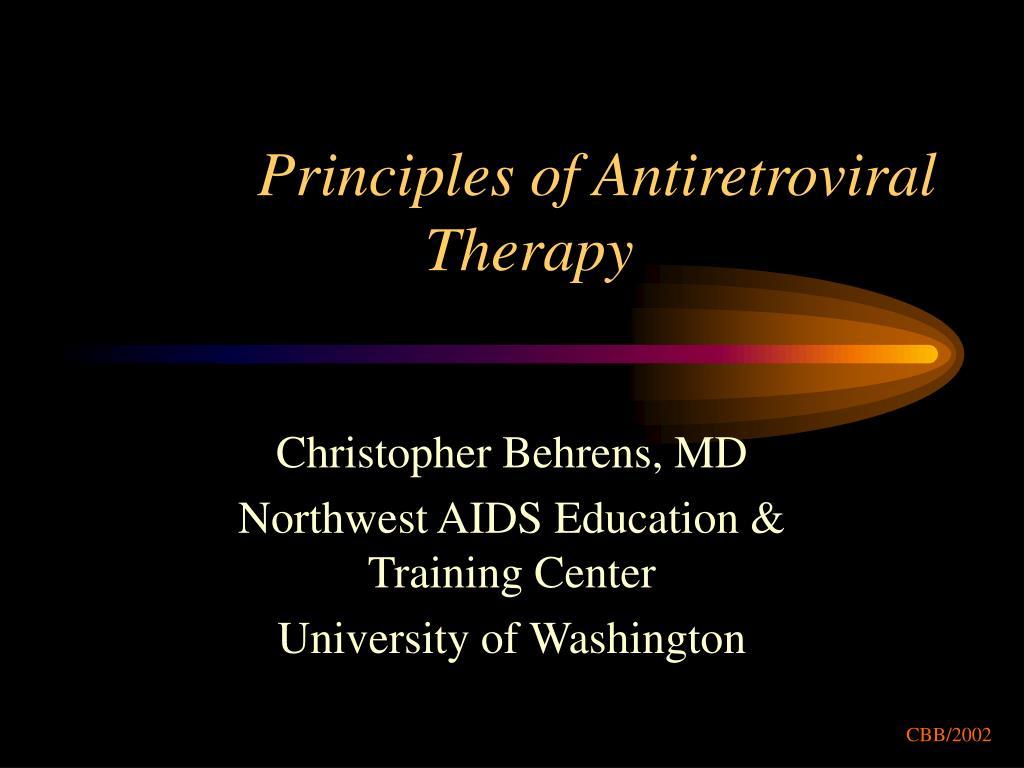 principles of antiretroviral therapy l.