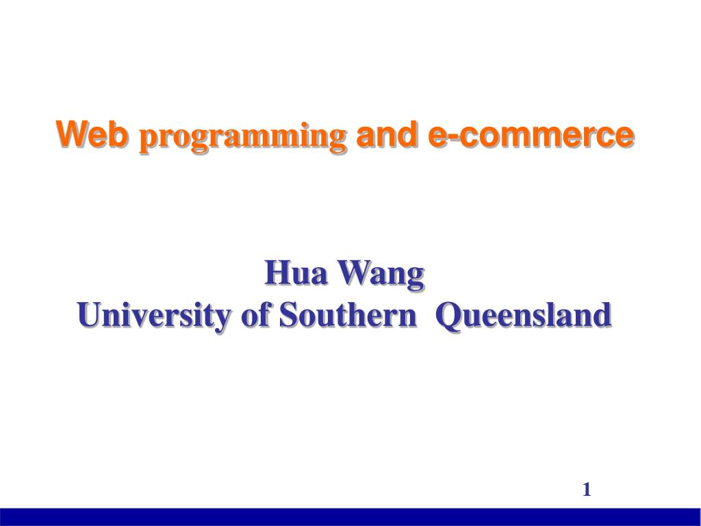 web programming and e commerce l.