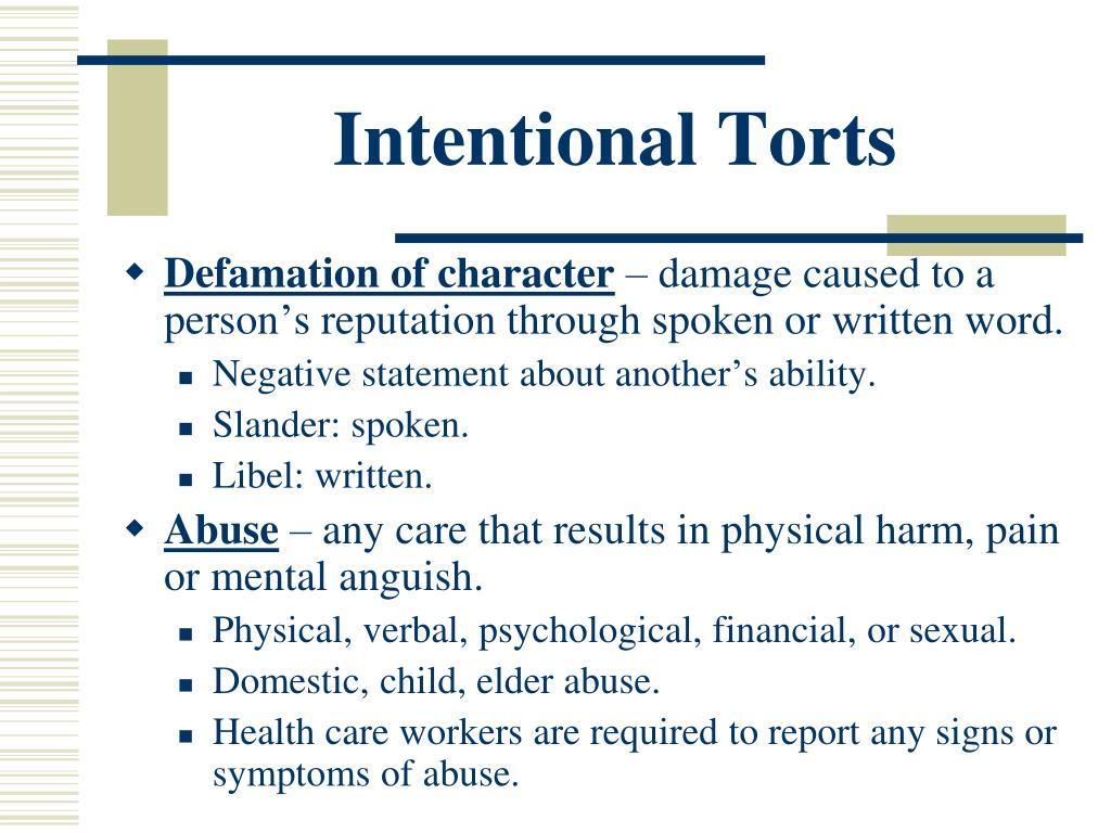 torts defamation