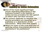 liability for online defamation
