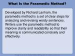 what is the paramedic method