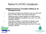 swine fu h1n1 guidance