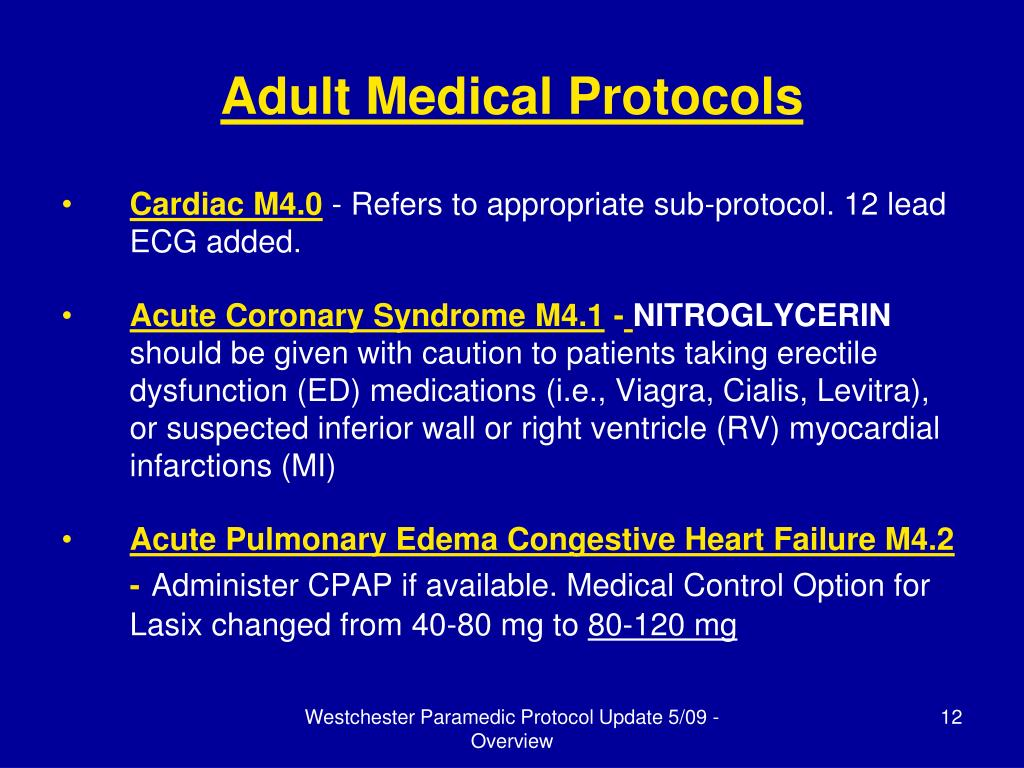 Adult Medical Protocols