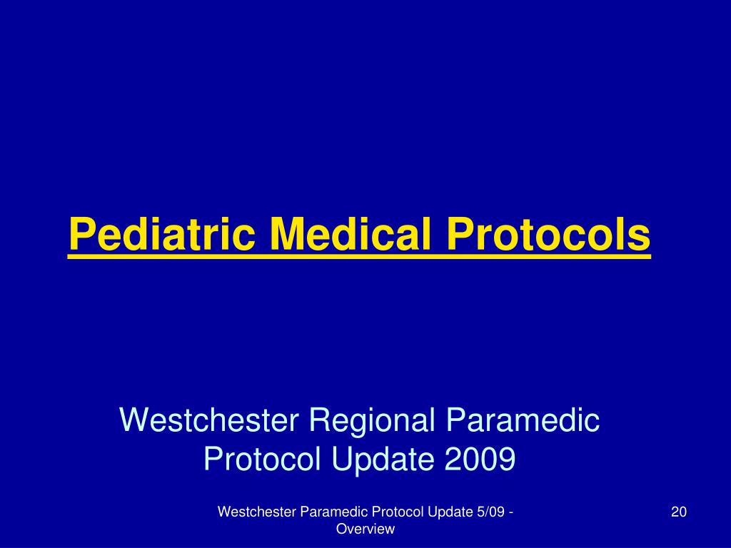 Pediatric Medical Protocols