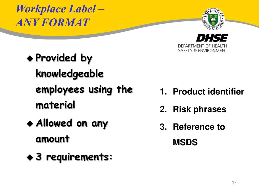 PPT - Health & Safety Orientation and WHMIS Overview for