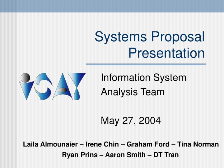 info systems proposal