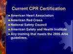 current cpr certification