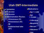 utah emt intermediate