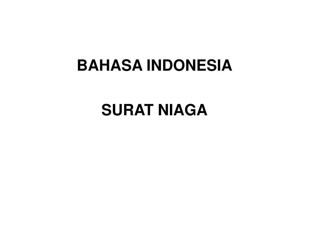 Ppt Bahasa Indonesia Surat Niaga Powerpoint Presentation