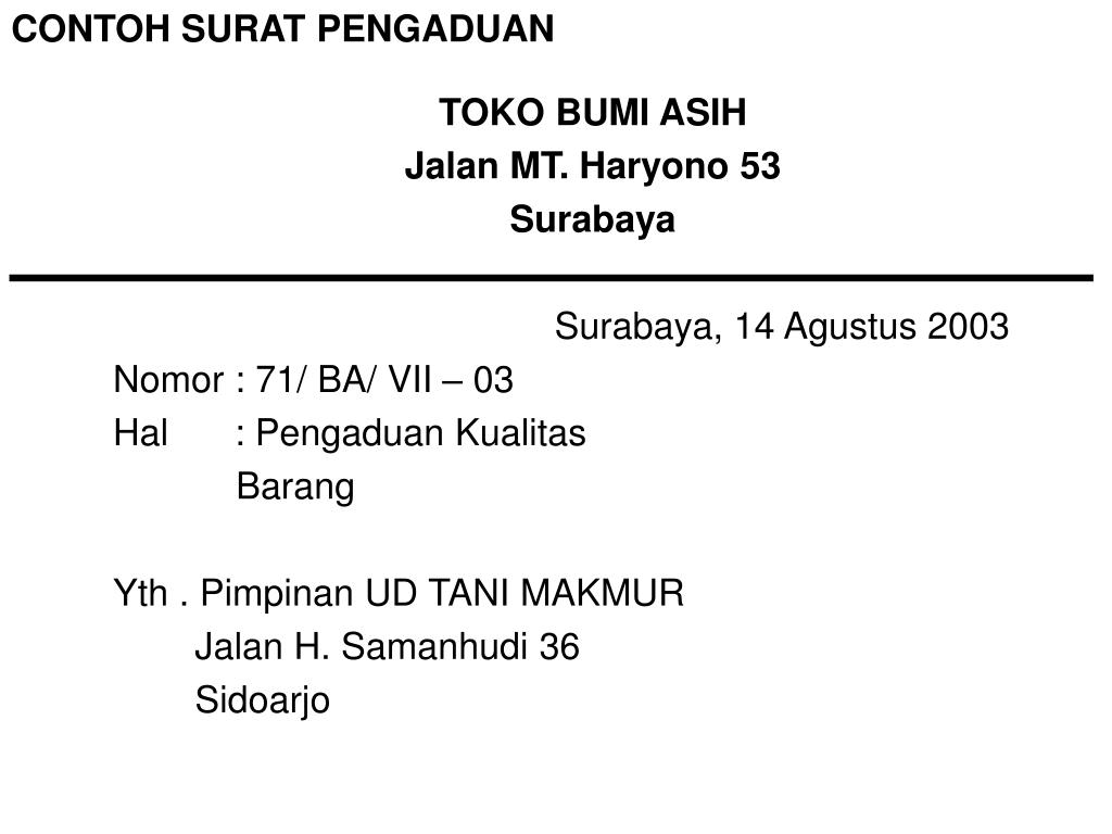 Ppt Bahasa Indonesia Surat Niaga Powerpoint Presentation Free Download Id 450732