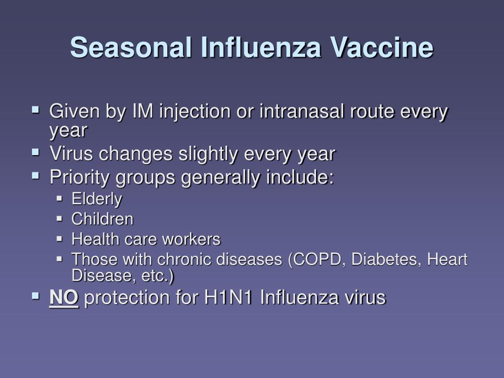 Seasonal Influenza Vaccine