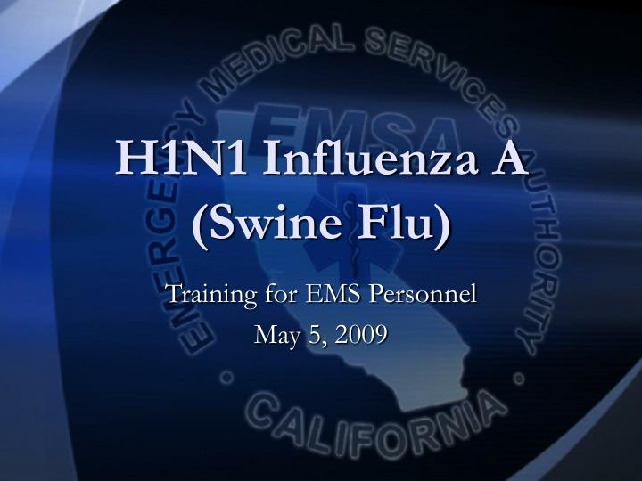 h1n1 influenza a swine flu n.