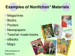 examples of nonfiction materials