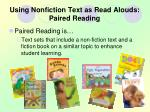 using nonfiction text as read alouds paired reading