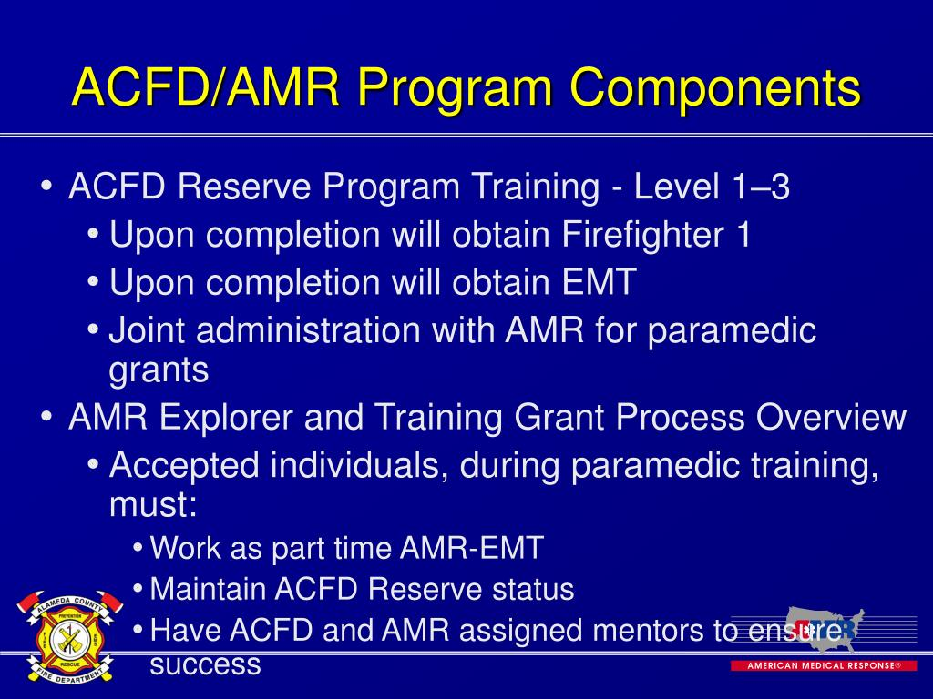 ACFD/AMR Program Components