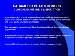 paramedic practitioners clinical experience education