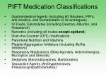 pift medication classifications17