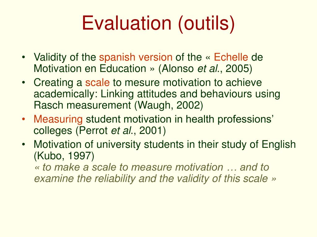 Evaluation (outils)