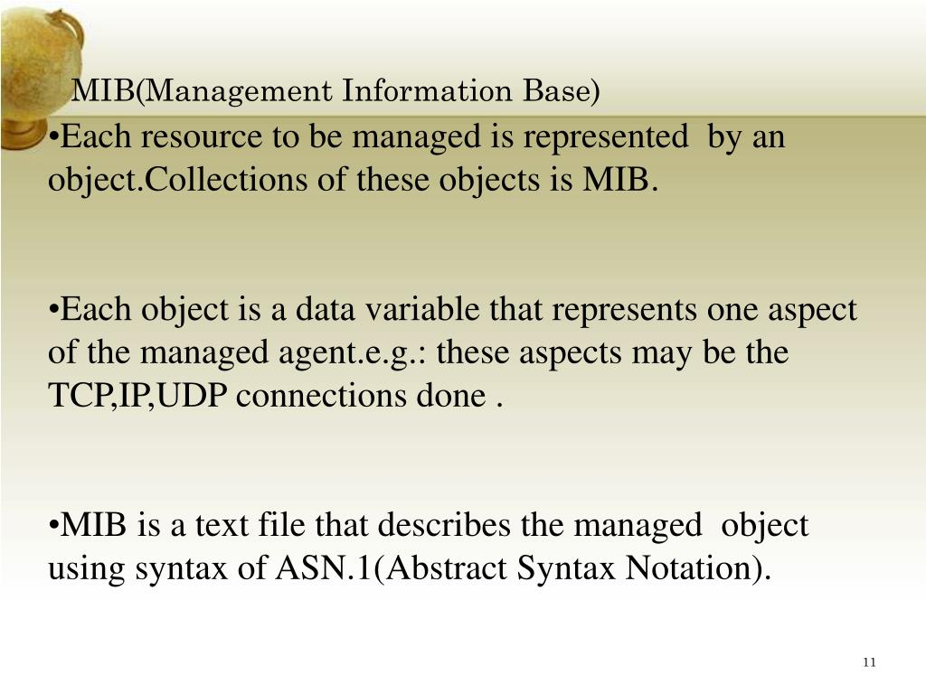 MIB(Management Information Base)
