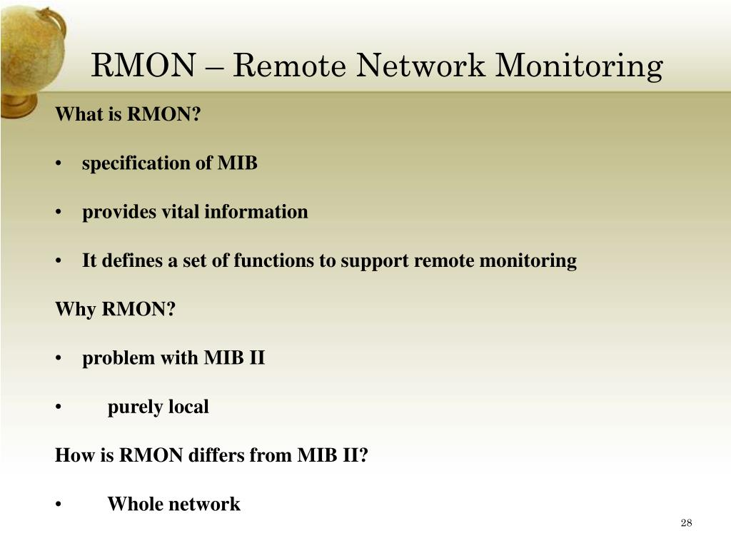 RMON – Remote Network Monitoring