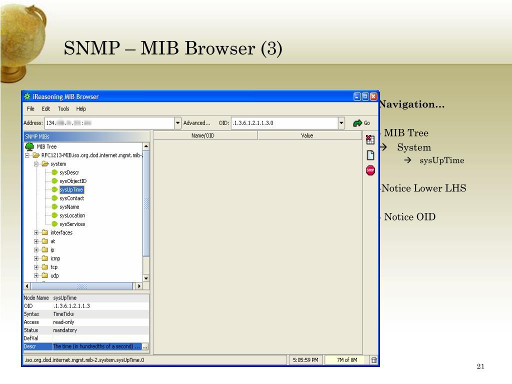 SNMP – MIB Browser (3)