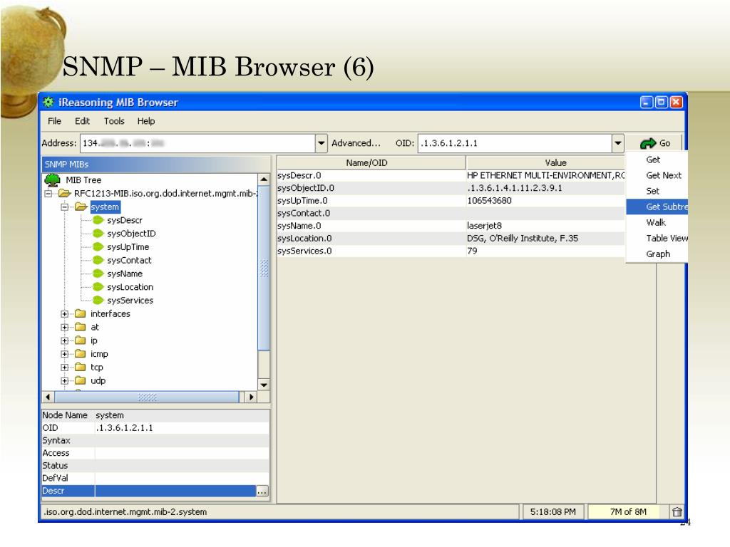 SNMP – MIB Browser (6)
