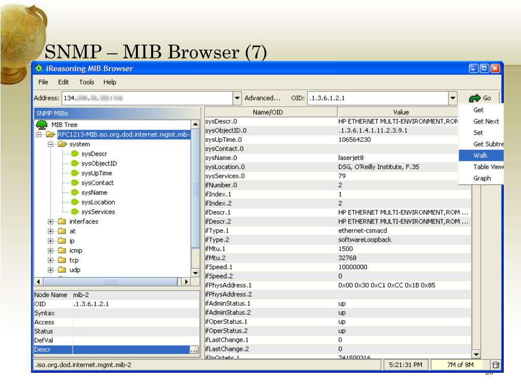 SNMP – MIB Browser (7)