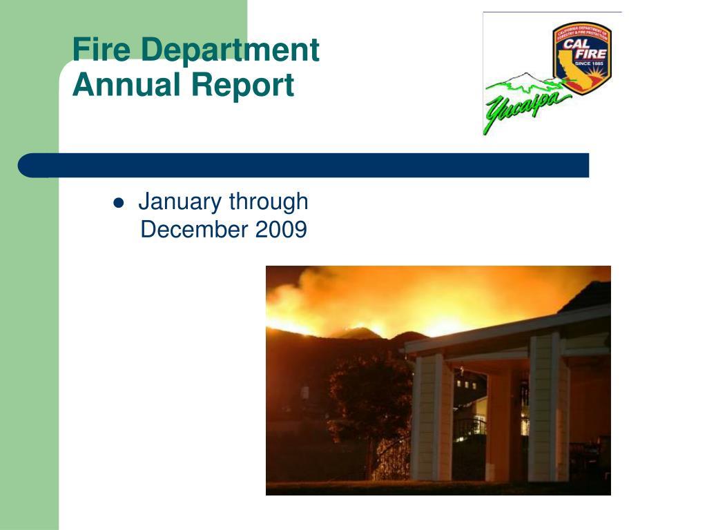 fire department annual report l.