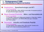 1 f rderprogramm it 2006 1 4 unterst tzung von regionen der exzellenz