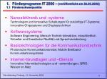 1 f rderprogramm it 2006 ver ffentlicht am 26 02 2002 1 1 f rderschwerpunkte
