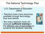 the national technology plan