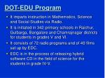dot edu program