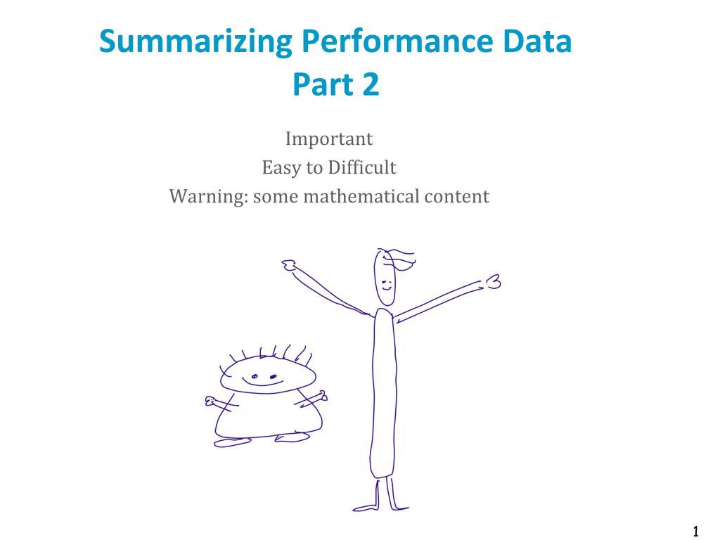 summarizing performance data part 2