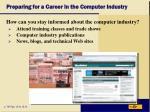 preparing for a career in the computer industry17