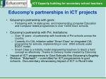 educomp s partnerships in ict projects