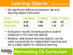 learning objects some results
