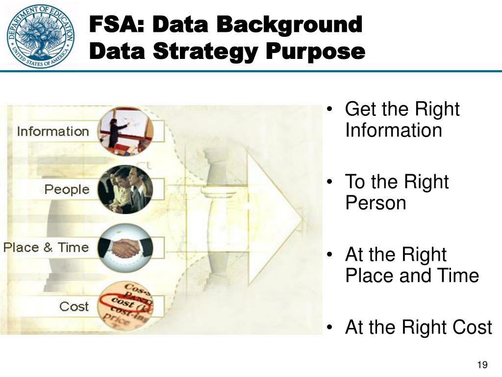 FSA: Data Background